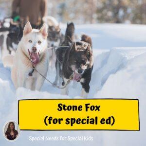 Stone Fox Novel Study for Special Education