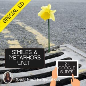 Similes and Metaphors Unit for Special Education with digital activities