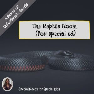 The Reptile Room Novel Study for Special Education with chapter questions