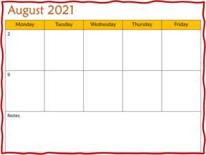 bi-weekly lesson planning template