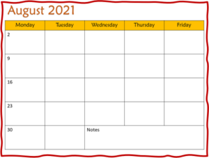 monthly lesson planning template
