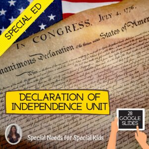 The Declaration of Independence for Special Education